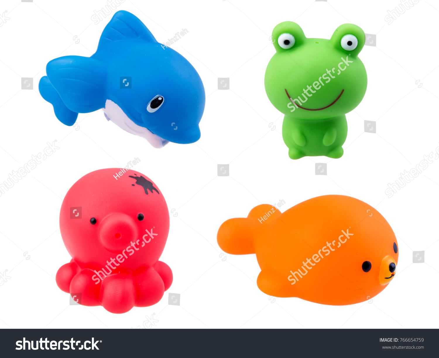 Rubber Bath Toys Isolated On White Stock Photo (Royalty Free ...