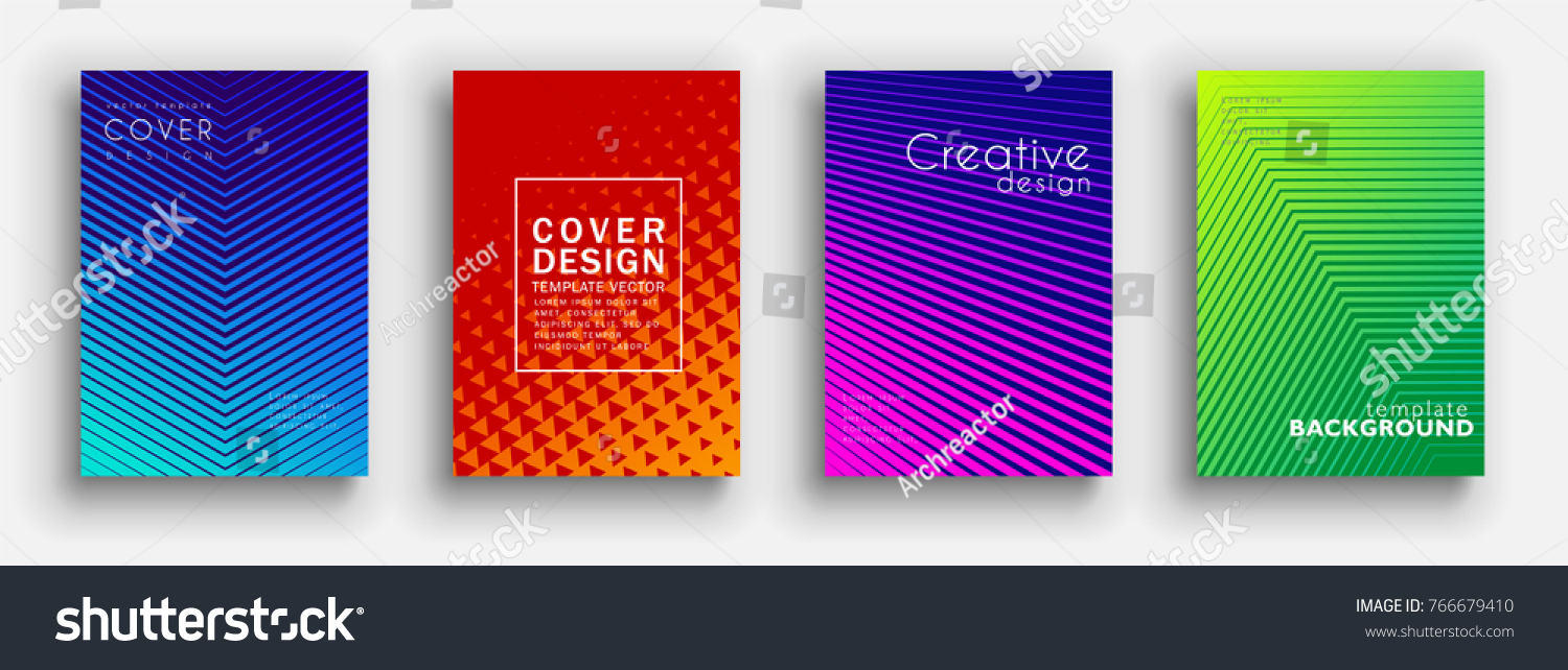 Minimal covers design. Colorful halftone gradients. Future geometric patterns. Vector template brochures, flyers, presentations, leaflet, magazine a4 size #766679410
