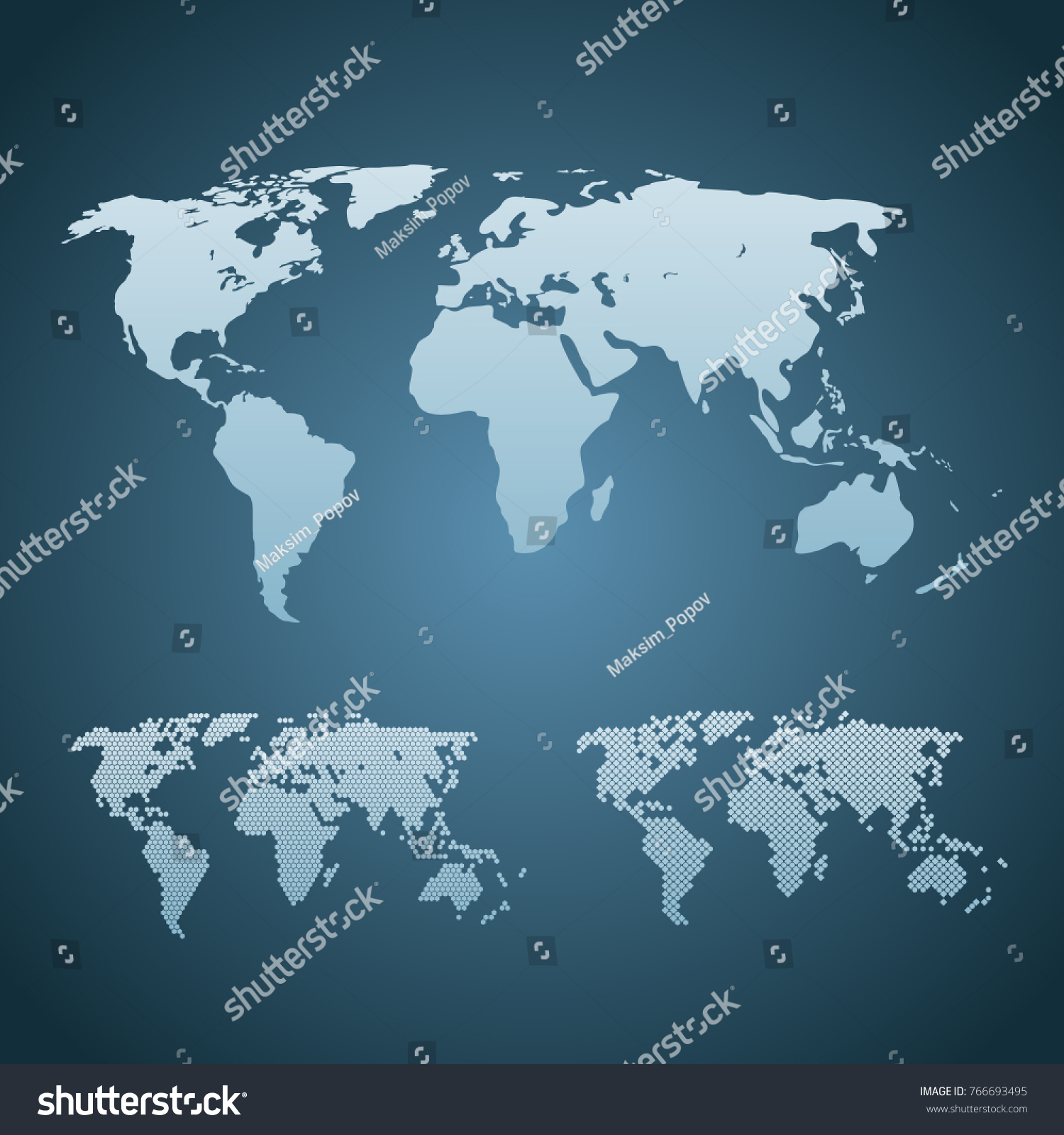Three stylized world maps isolated world vectores en stock 766693495 three stylized world maps are isolated world map vector world template web design gumiabroncs Image collections
