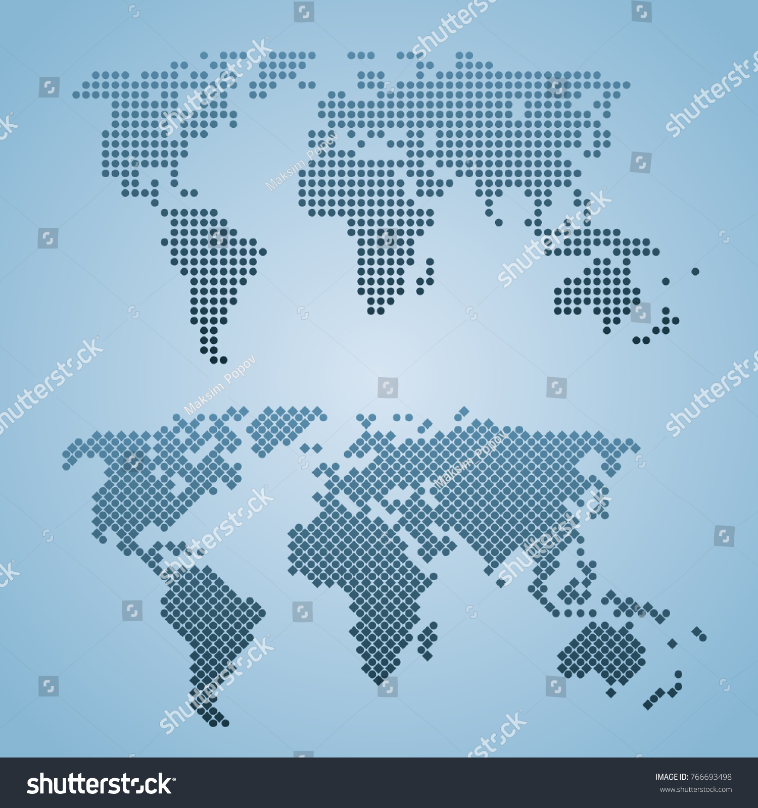Two stylized world map isolated world vectores en stock 766693498 two stylized world map isolated world map vector globe template for web design gumiabroncs Image collections