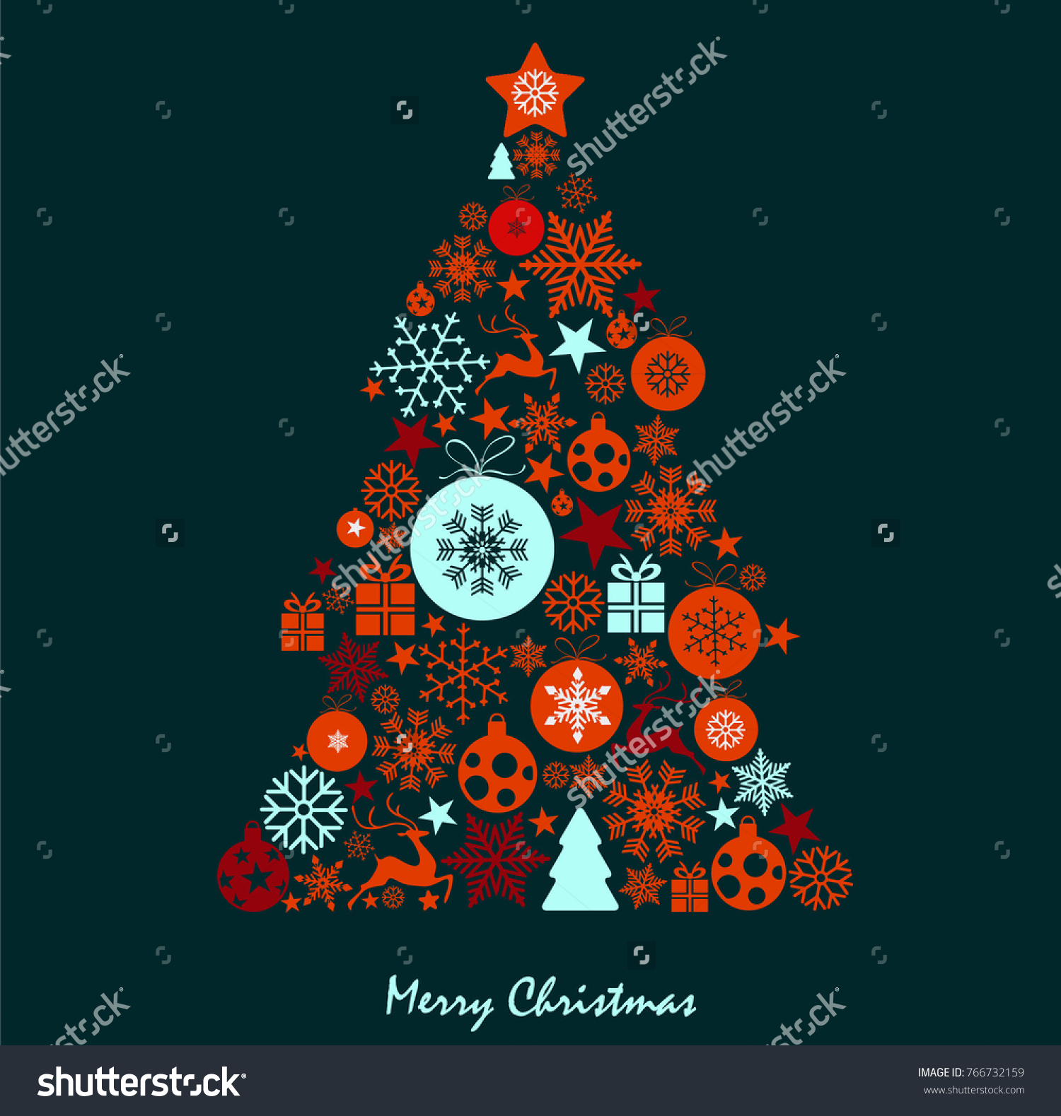 Christmas Card Design Vector Illustration New Stock Vector Royalty