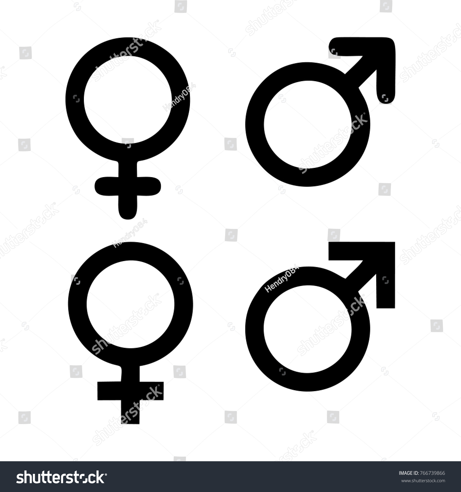 Male Female Symbol Set Stock Vector Royalty Free 766739866