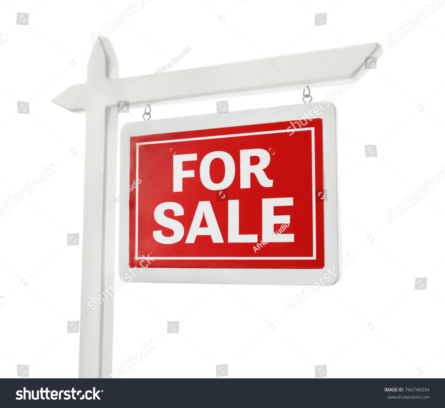 """For sale"" sign on white background #766746034"