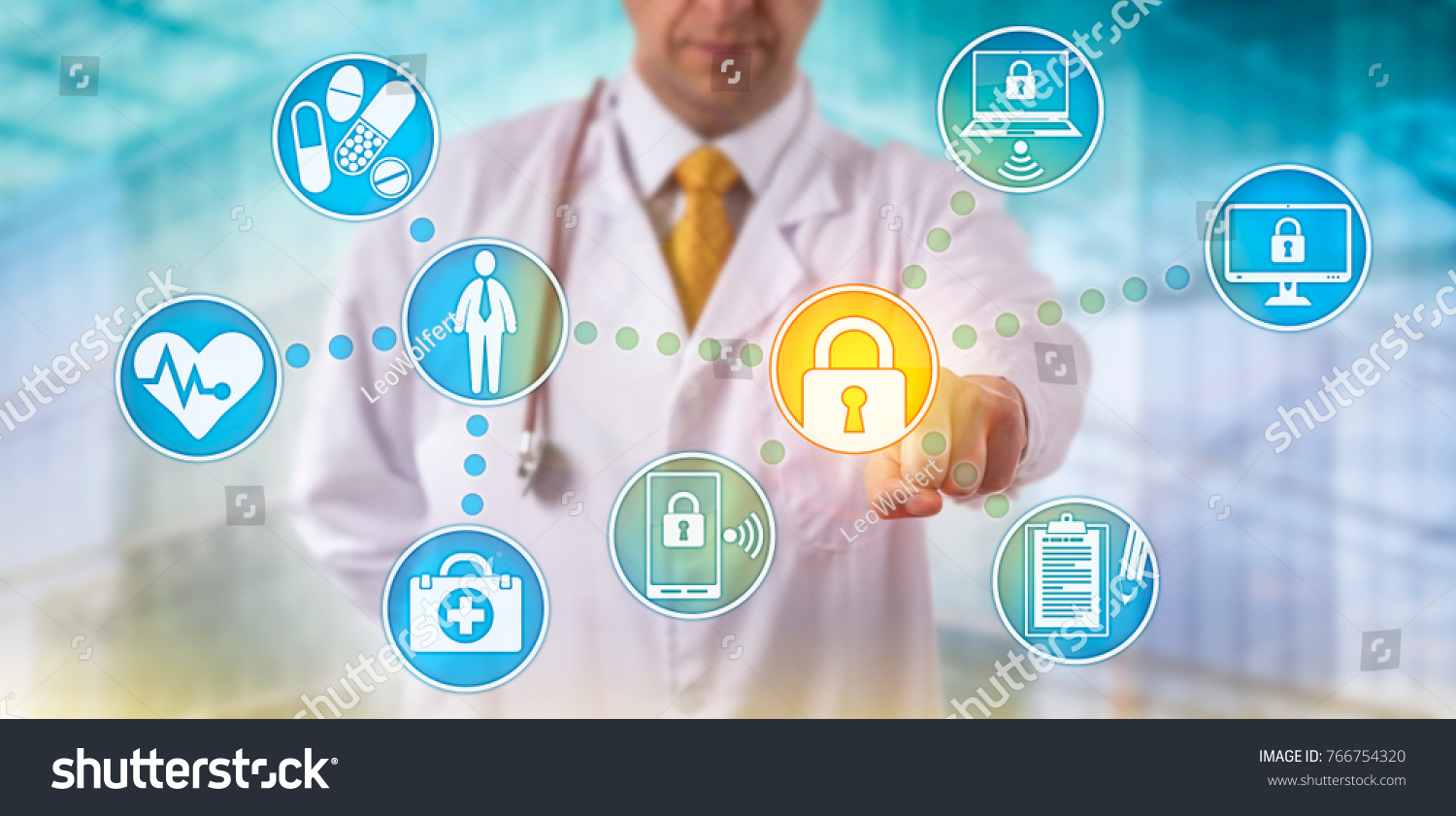 unrecognizable doctor medicine securing patient medical の写真素材