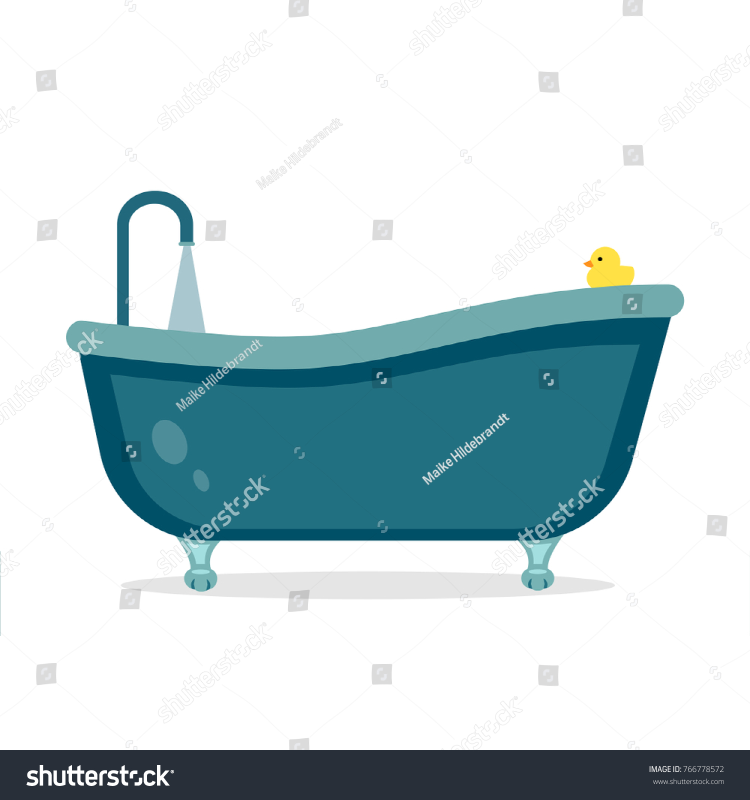 Nostalgic Bath Tub Legs Flat Design Stock Vector 766778572 ...