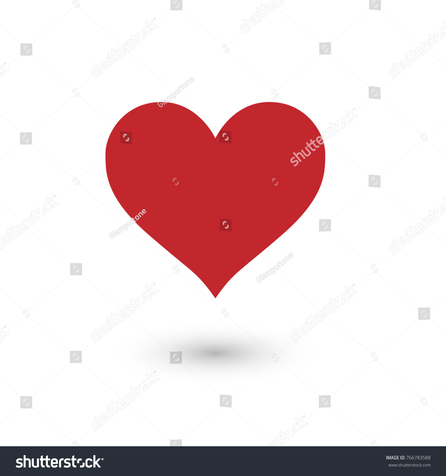 Big red heart symbol love isolated stock vector 766783588 big red heart symbol of love isolated vector icon buycottarizona Image collections