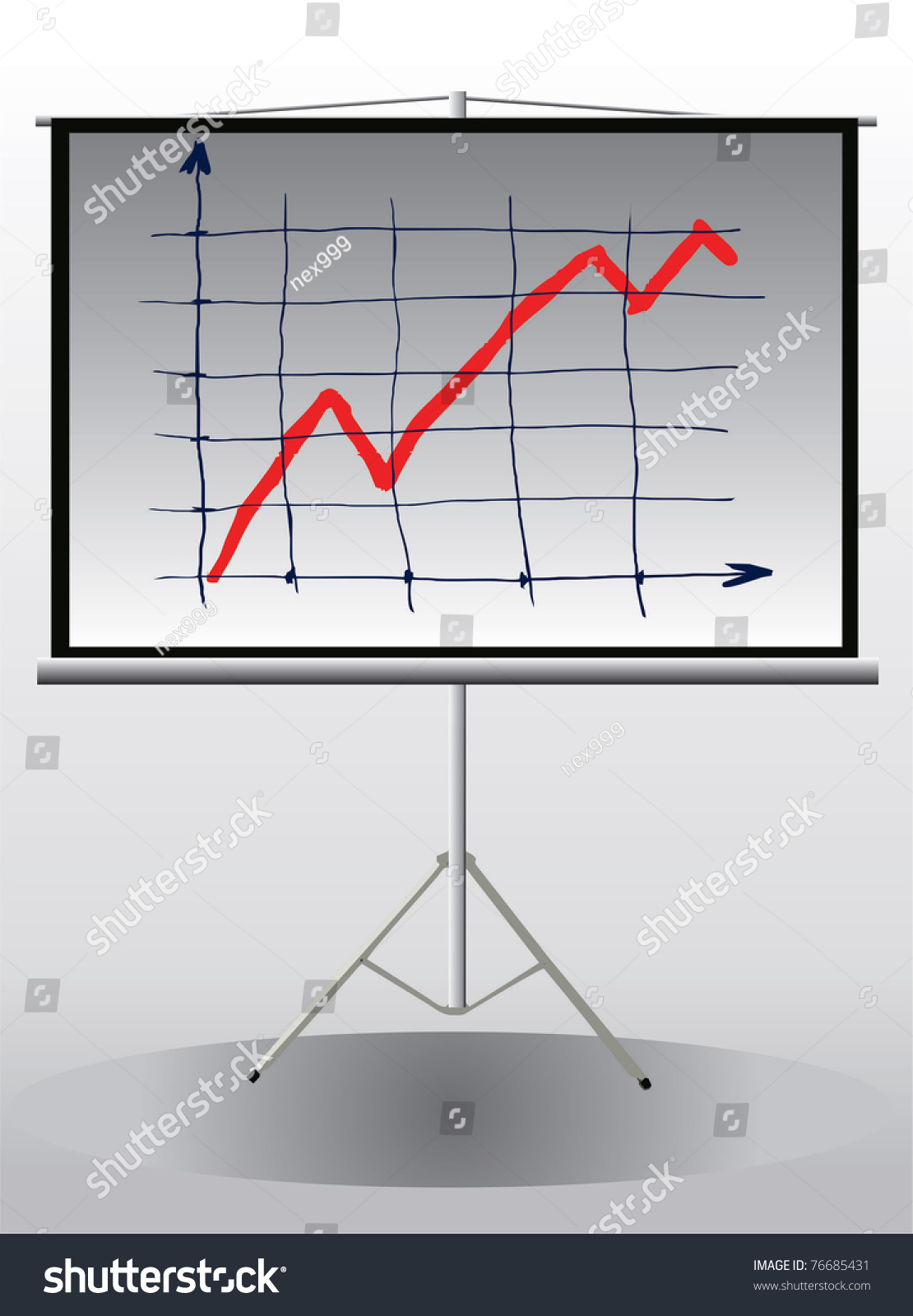 Vector Image Projector Screen Tripod Growth Stock Vector 76685431 ...