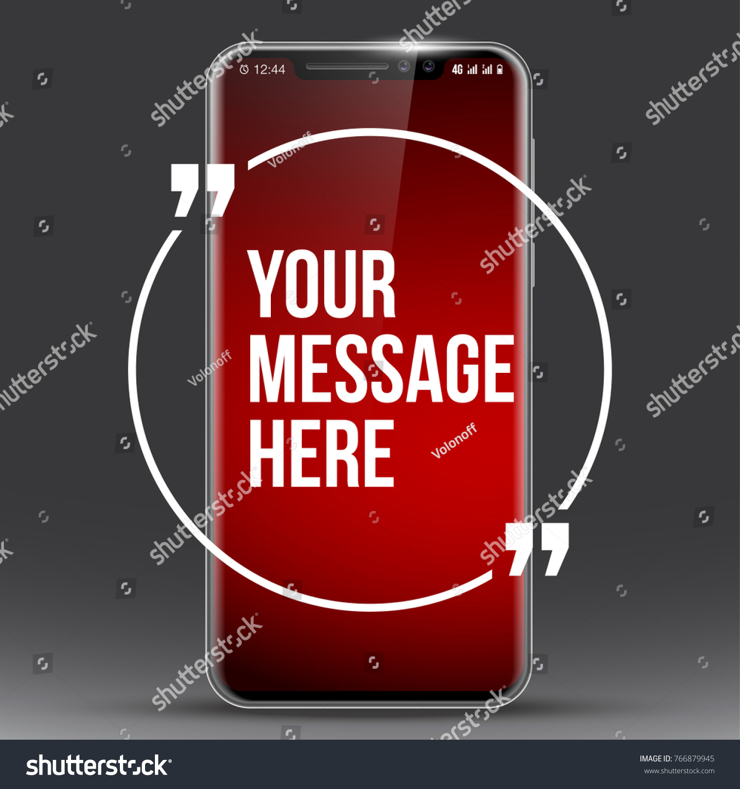 Cell Phone Quotes New Model Vector Mobile Phone Innovative Stock Vector 766879945