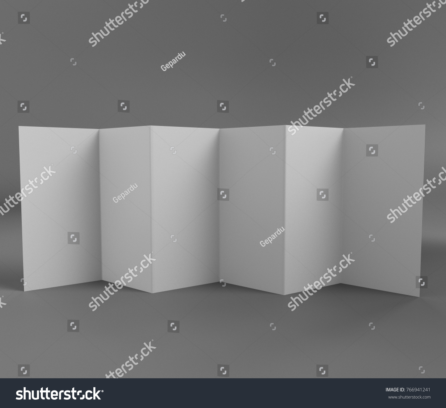 Zfold Brochure Leaflet Flyer Template D Stock Illustration - Z fold brochure template