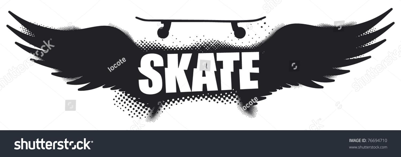 skateboard text