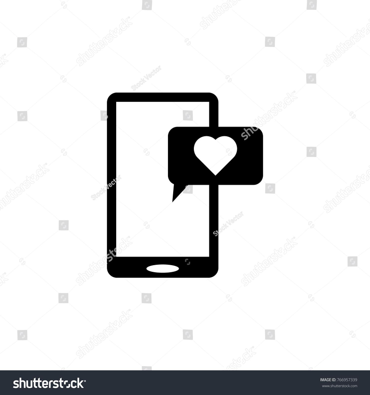Smartphone heart message icon love couple stock illustration smartphone with heart message icon love or couple element icon premium quality graphic design biocorpaavc