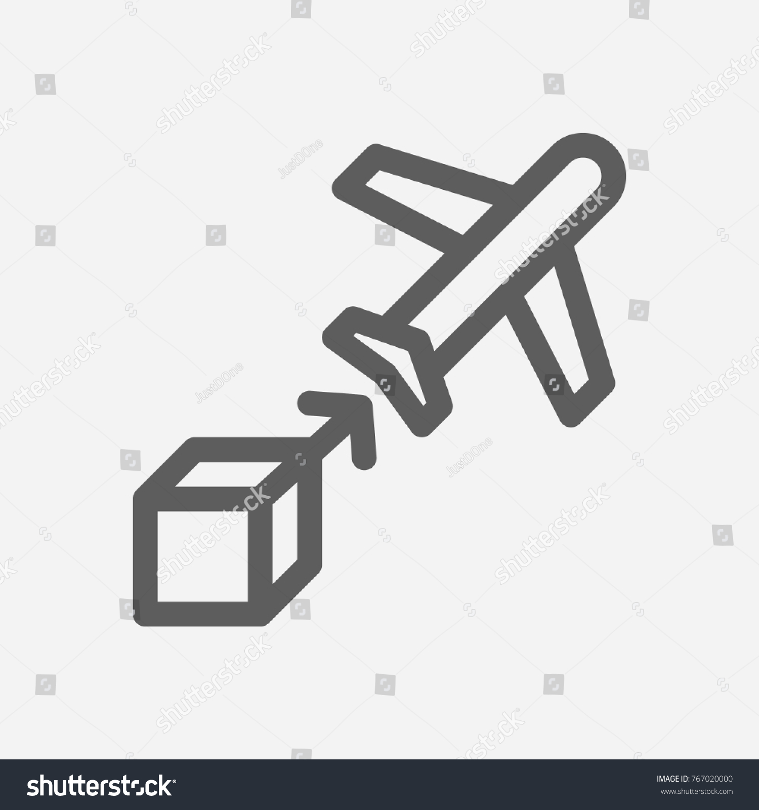 Airplane delivery icon line symbol isolated stock vector 767020000 airplane delivery icon line symbol isolated vector illustration of freight sign airplane delivery icon concept buycottarizona Gallery
