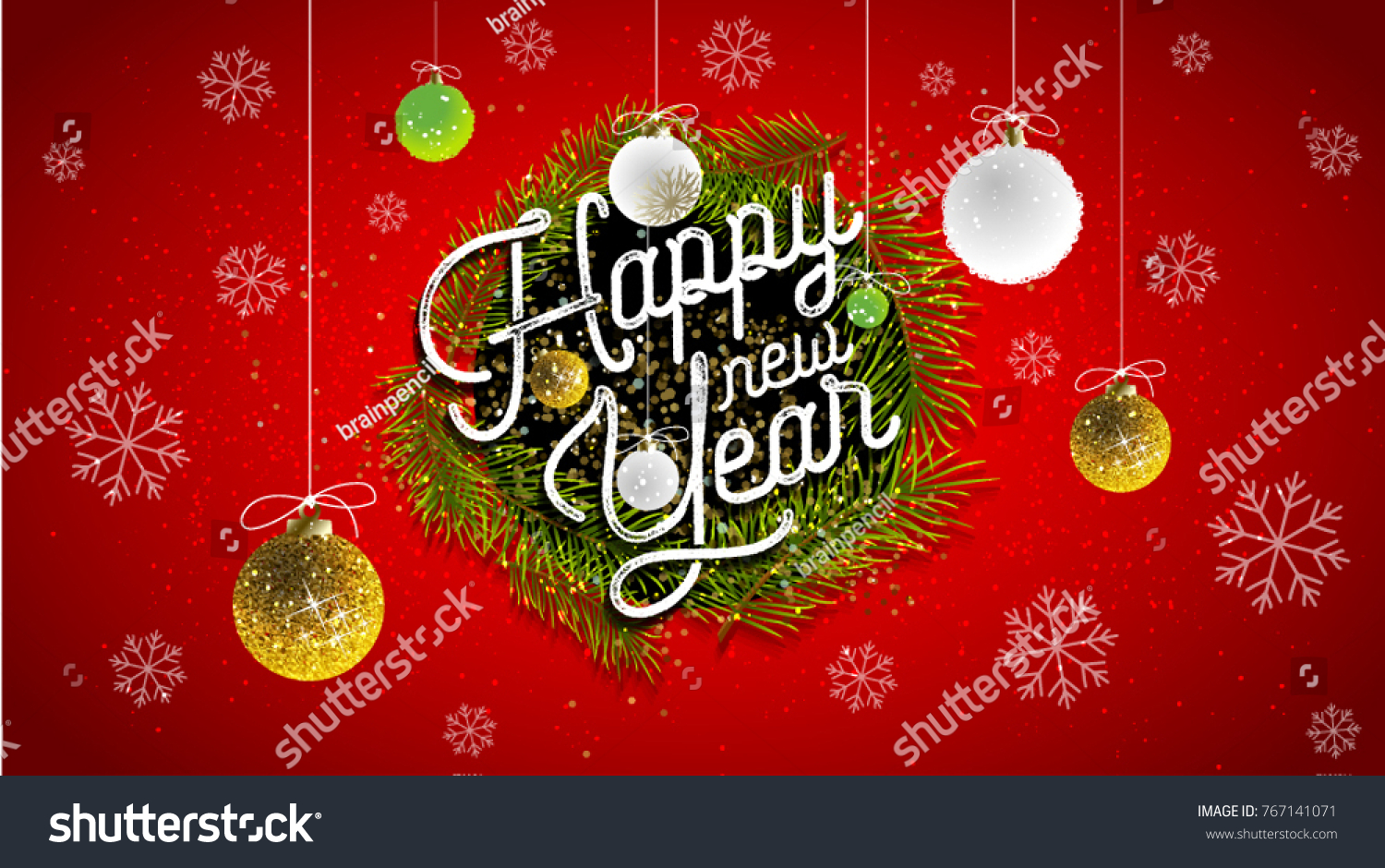 2018 happy new year background your stock vector 767141071