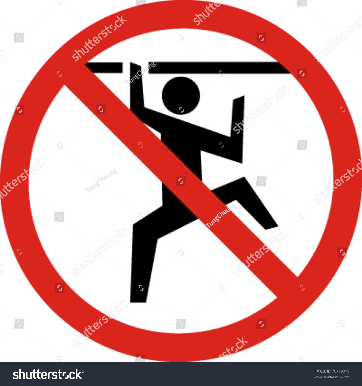 No Climbing Sign In Vector 76719379 Shutterstock