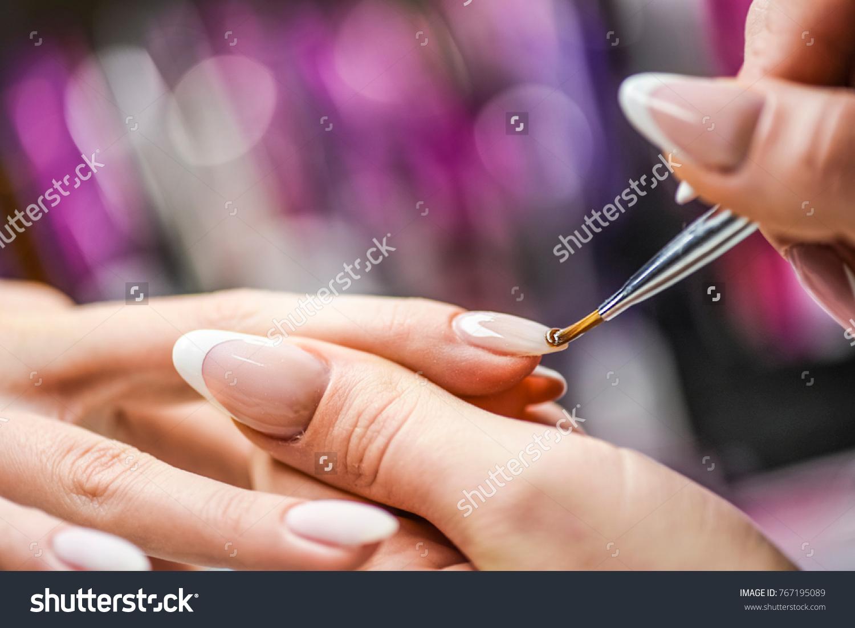 Manicure Nail Paint Thin Brush On Stock Photo 767195089 - Shutterstock