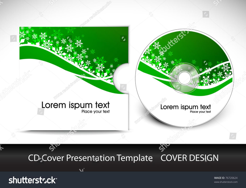 Cd Cover Design Template Presentation Editable Stock Vector HD ...