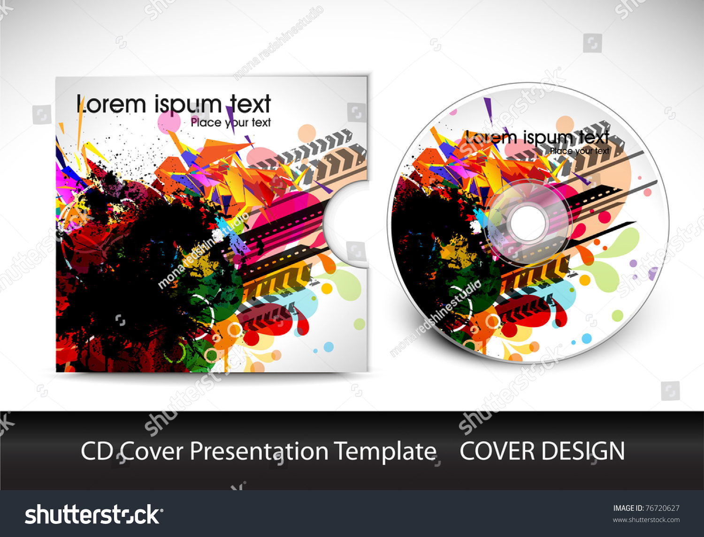 cd cover design template presentation editable stock vector, Presentation templates