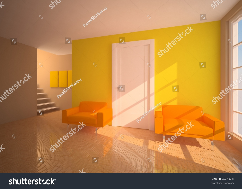 Yellow Modern Interior Stock Photo 76723660 Shutterstock
