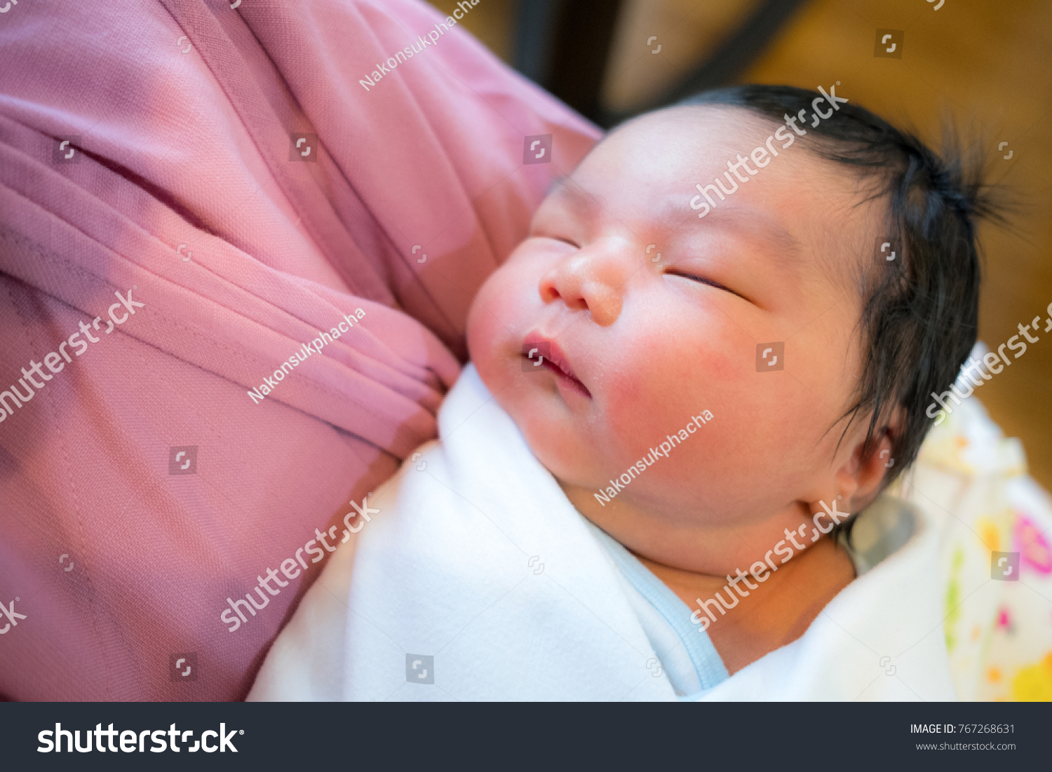 Mother Embraced Her Baby Warmly Stock Photo (Edit Now) 767268631 ... 1e3ab97801a95