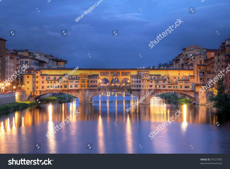 Ponte Vecchio Old Bridge Florencefirenze Italy Stock Photo ...