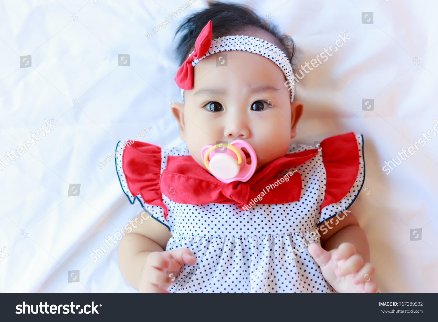 portrait lovely beautiful baby girl attractive stock photo & image
