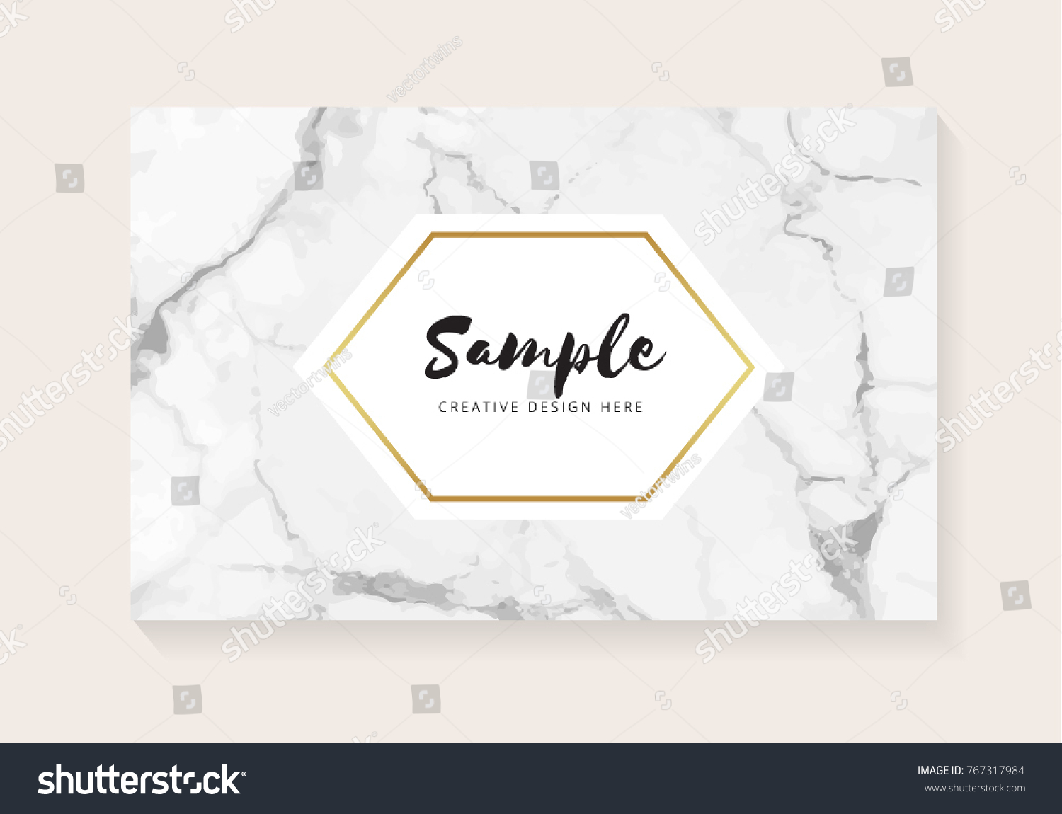 Luxury Business Cards Marble Texture Gold Stock Vector 767317984 ...