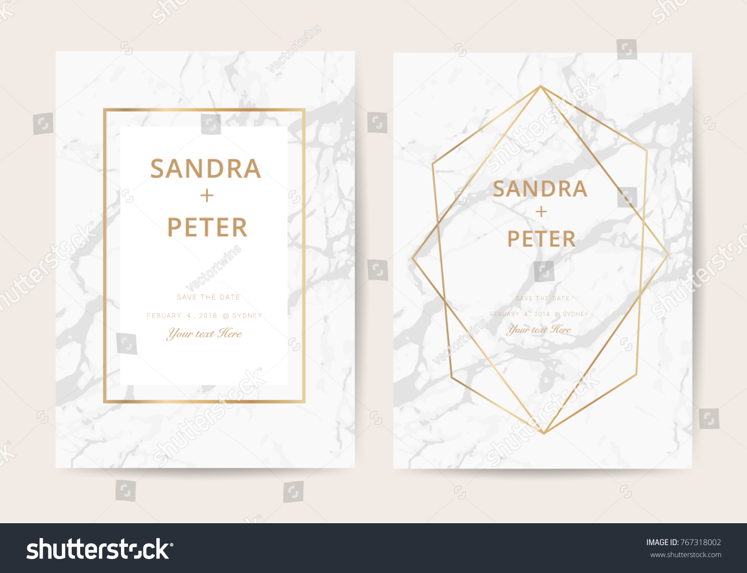 Luxury Business Cards Marble Texture Gold Stock Vector 767318002 ...