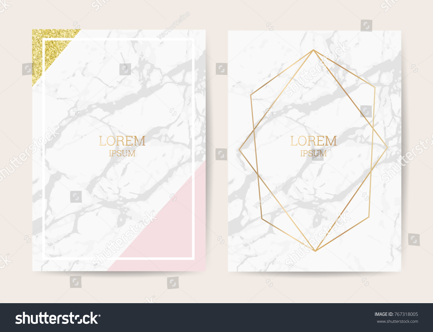 Luxury wedding invitation cards marble texture stock vector luxury wedding invitation cards with marble texture and golden geometric line vector illustration stopboris Images