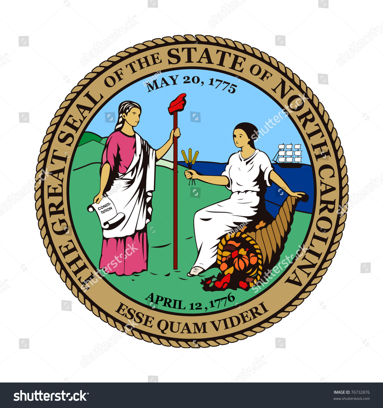 Seal american state north carolina isolated stock illustration seal of american state of north carolina isolated on white background buycottarizona