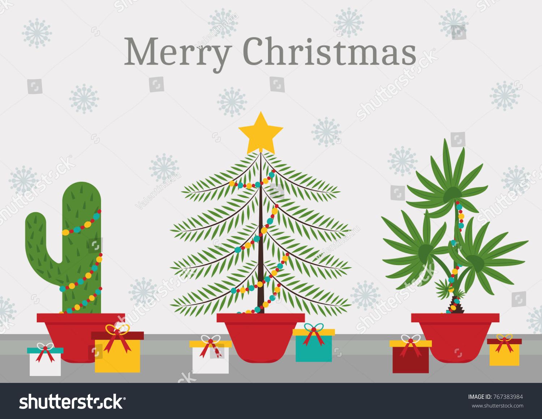 Christmas Time Every Plant Christmas Tree Stock Vector (Royalty Free ...