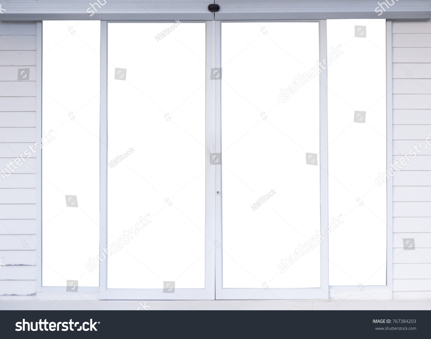 Automatic Glass Door Office Aluminum Frame Stock Photo Edit Now