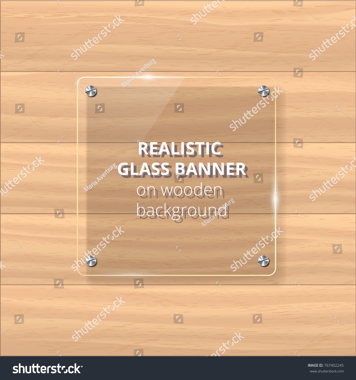 Transparent Glass Plate Mock Up Yellow Stock Vector (Royalty Free ...