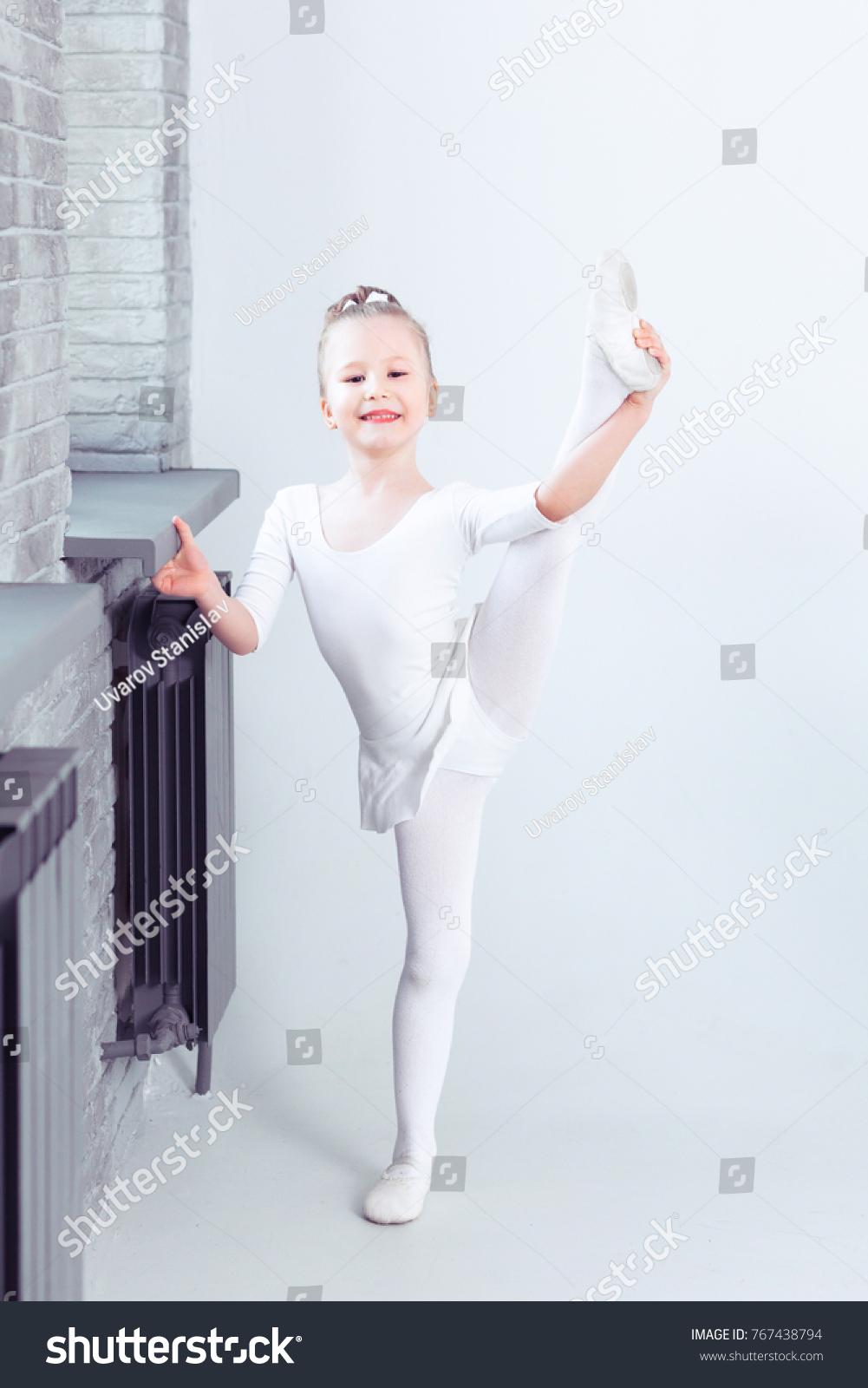 c6f1ff4f81de Cute Little Girl Dreams Becoming Ballerina Stock Photo (Edit Now ...