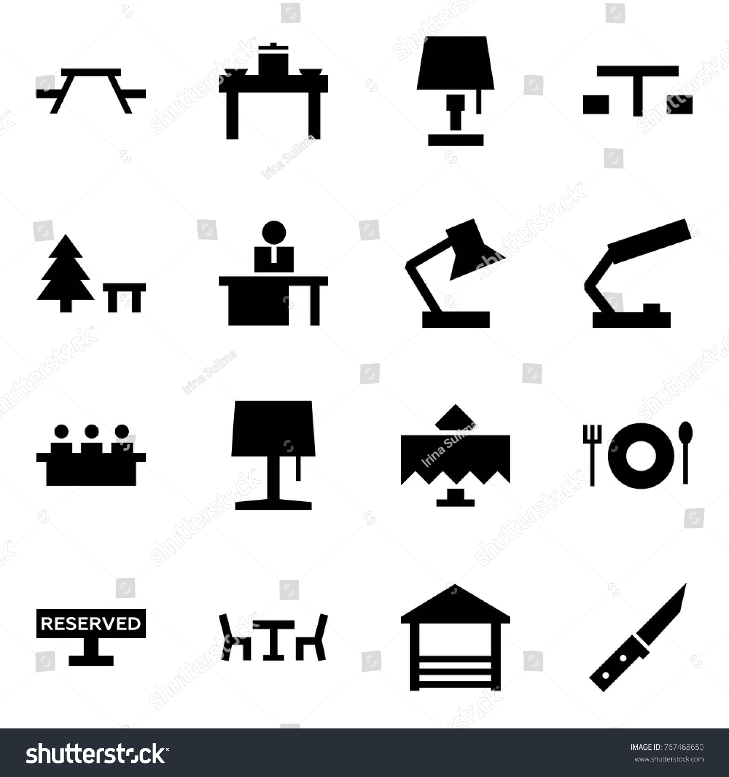 Origami style icon set picnic table stock vector 767468650 origami style icon set picnic table vector dinner lamp camping sign biocorpaavc