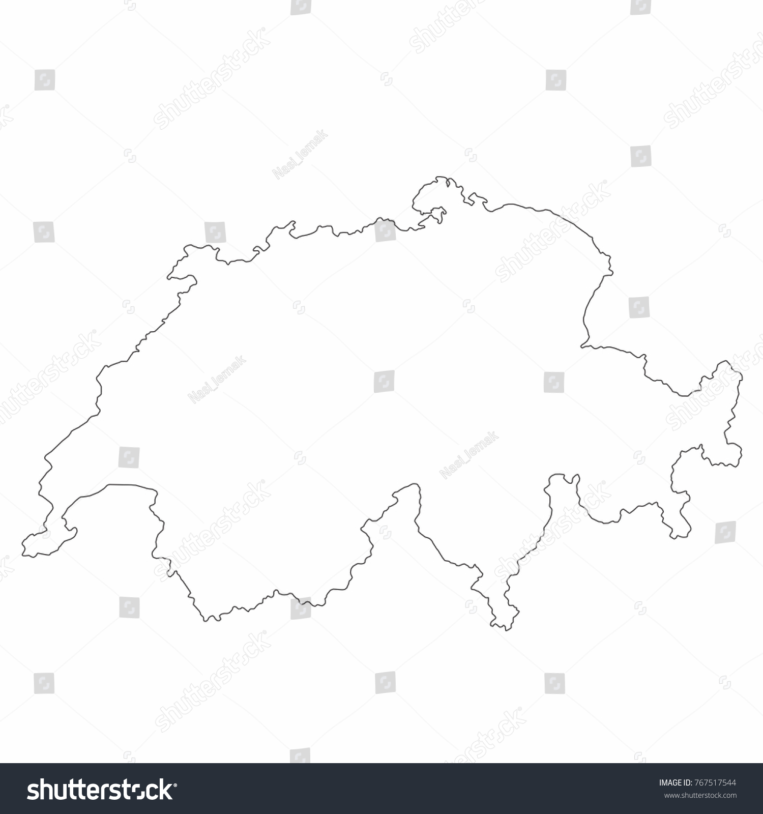 Switzerland world map country outline graphic stock vector switzerland world map country outline in graphic design concept gumiabroncs Images