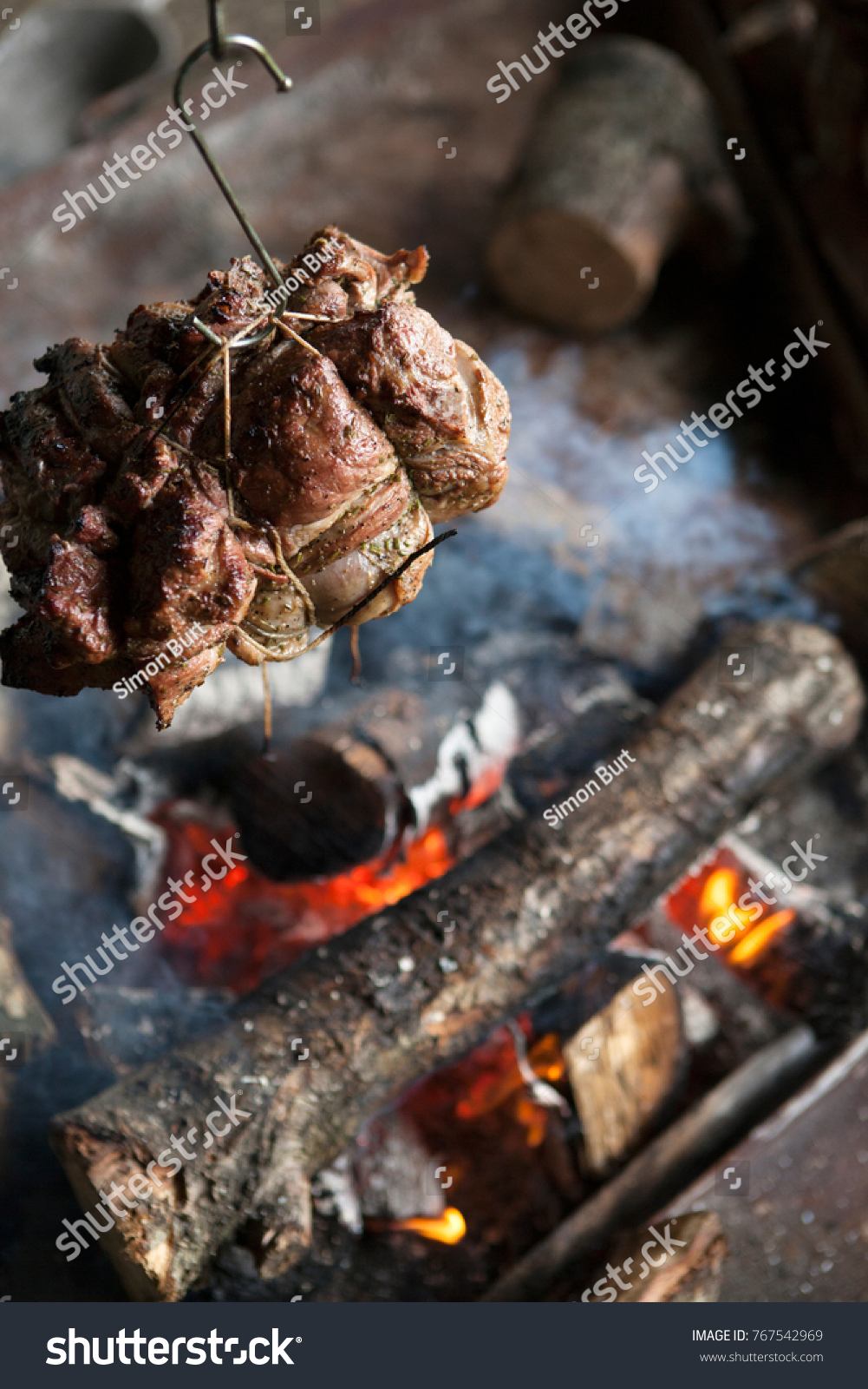 joint lamb hanging metal hook roasting stock photo edit now