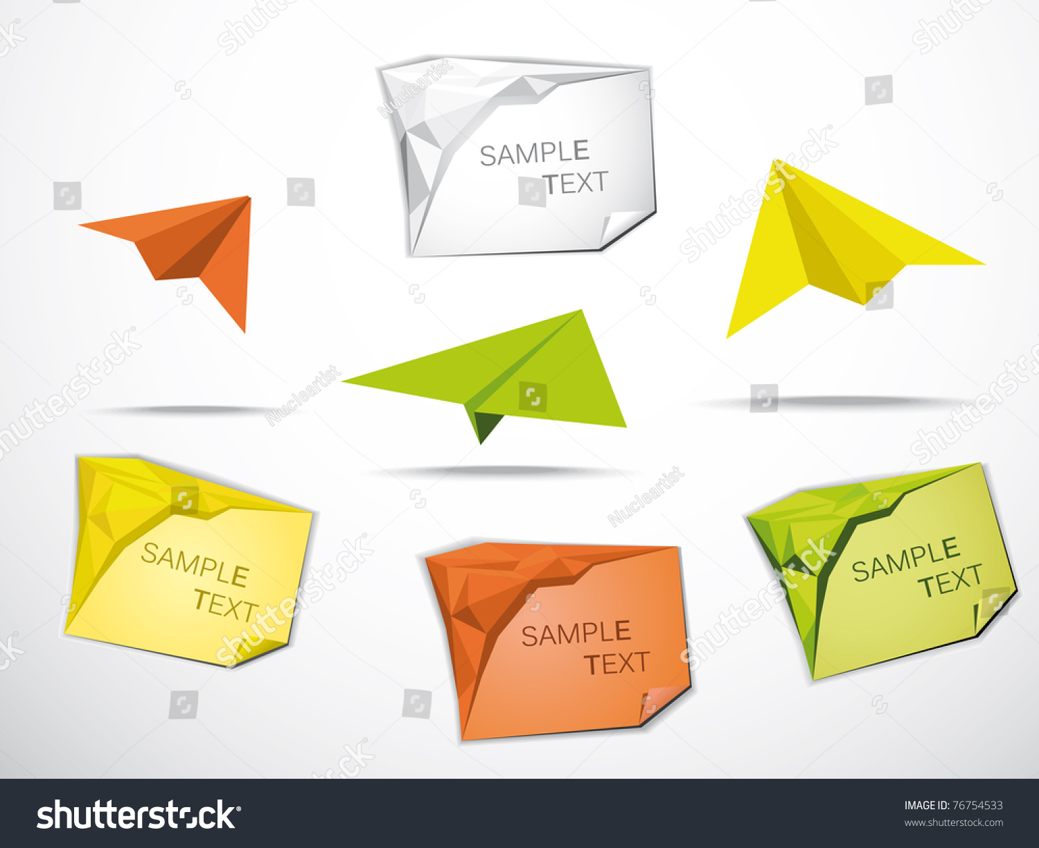 Origami business card origami planes stock vector 76754533 origami business card with origami planes jeuxipadfo Gallery