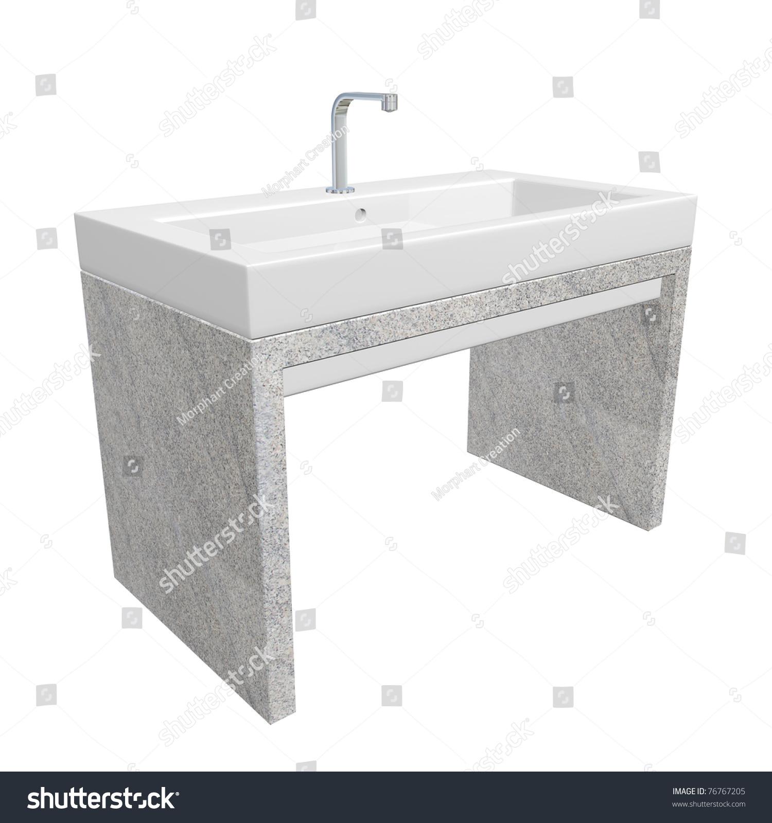Modern Washroom Sink Set Ceramic Acrylic Stock Illustration 76767205 ...
