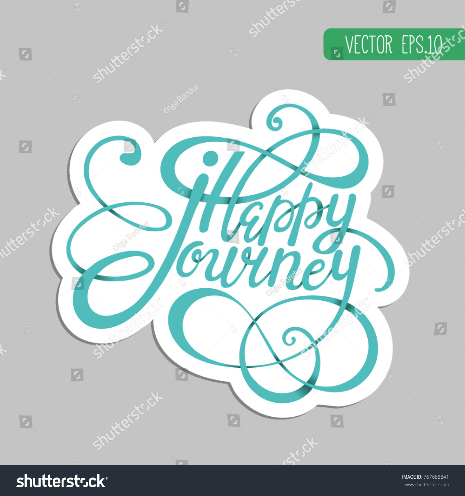 Sticker lettering monogram happy journey wishing stock vector sticker lettering monogram happy journey the wishing the good way sticker tourism honeymoon kristyandbryce Images