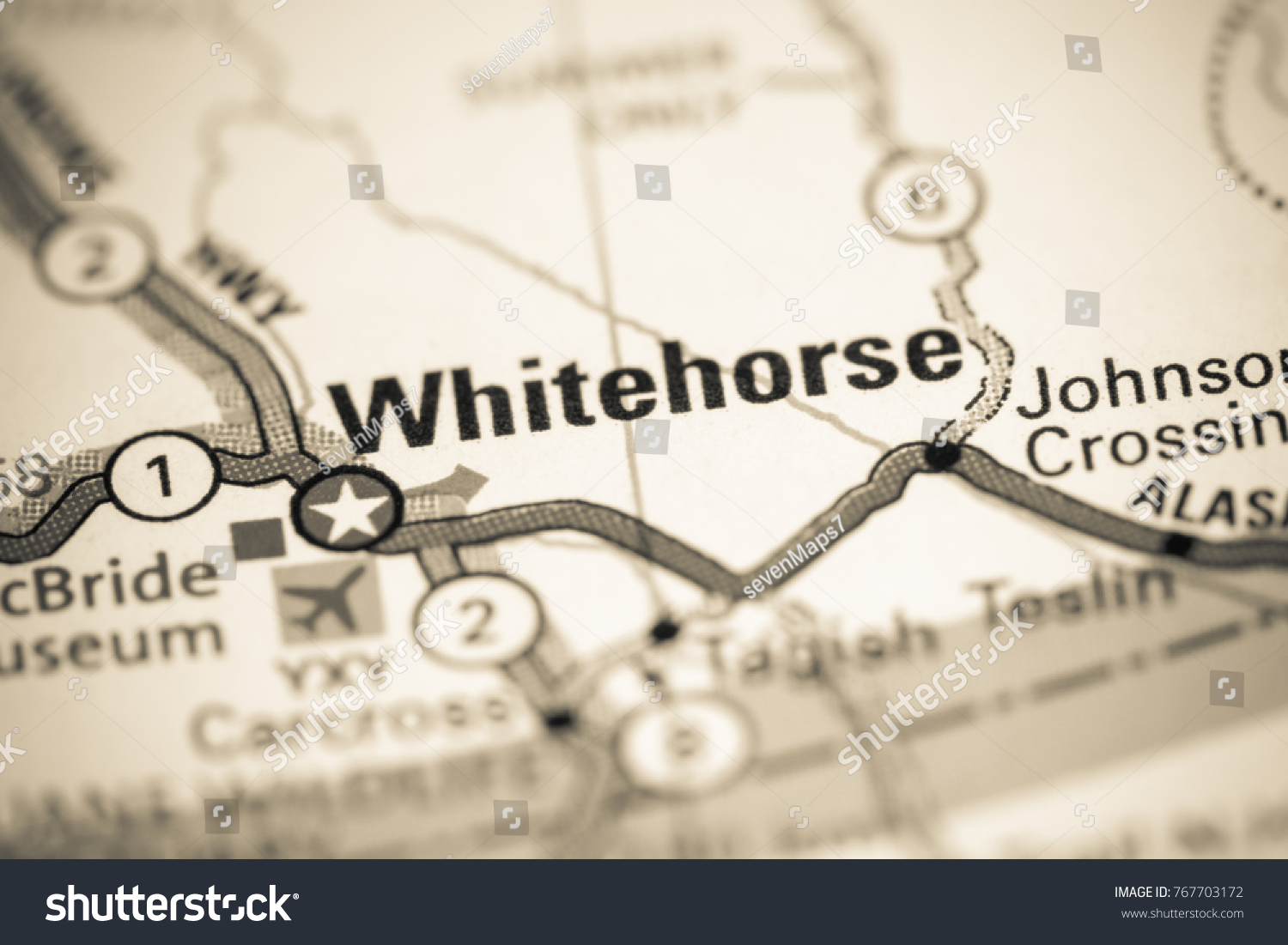 Whitehorse Canada On Map Stock Photo Edit Now 767703172 Shutterstock