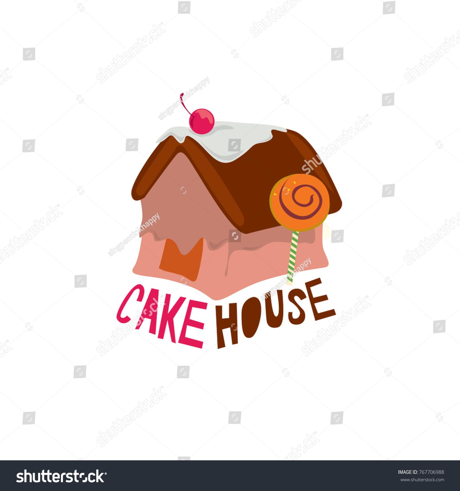 Cake House Logo Logo Cake Bakery Stock Vector Royalty Free