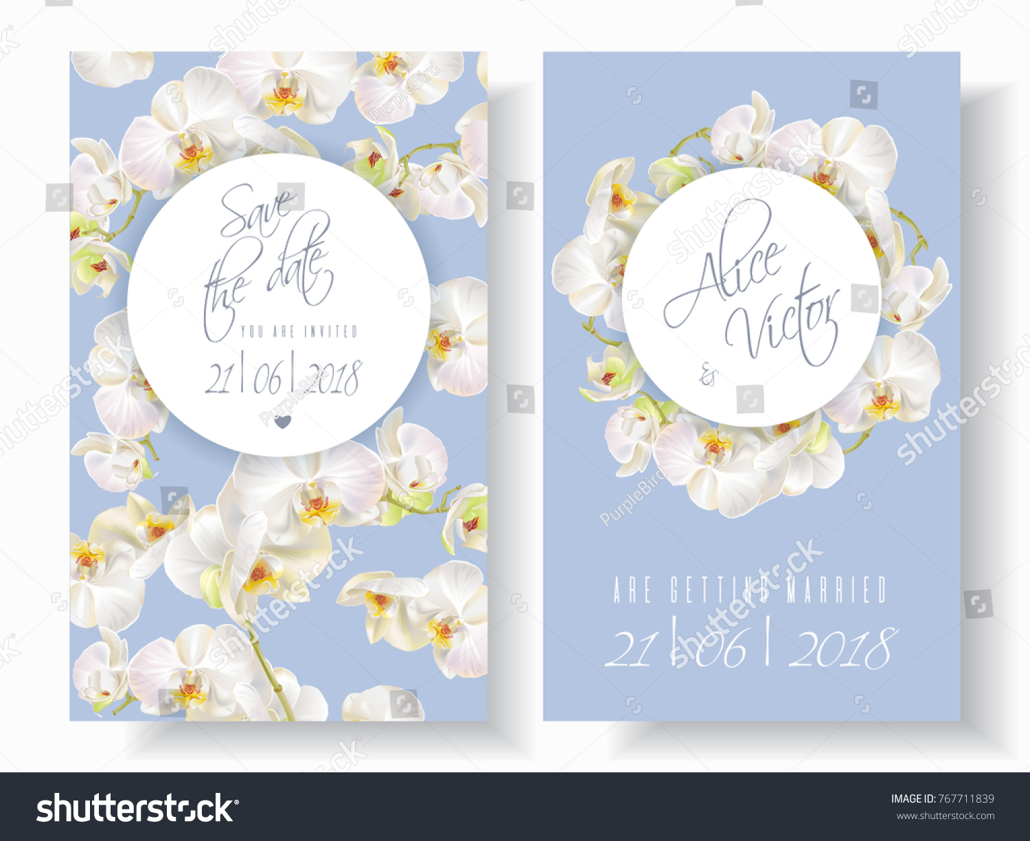 Invoice Templates 2019 » wedding invitations with blue orchids ...
