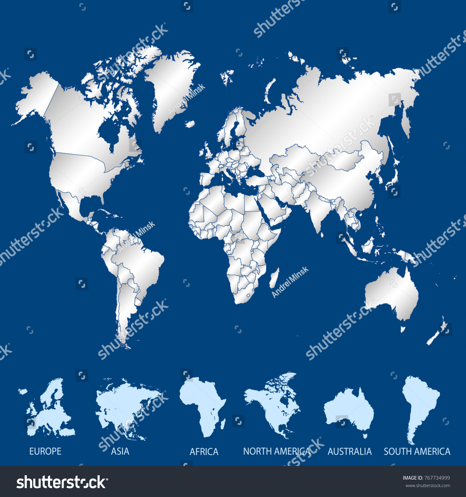 World map europe asia america africa vectores en stock 767734999 world map europe asia america africa australia gumiabroncs Images