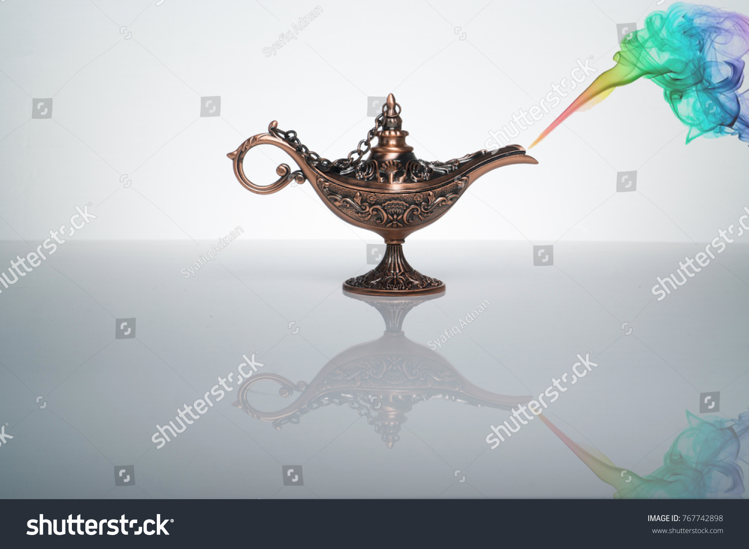 Magic Lamp Smoke Art On White Stock Photo 767742898 - Shutterstock for Magic Lamp With Smoke  545xkb
