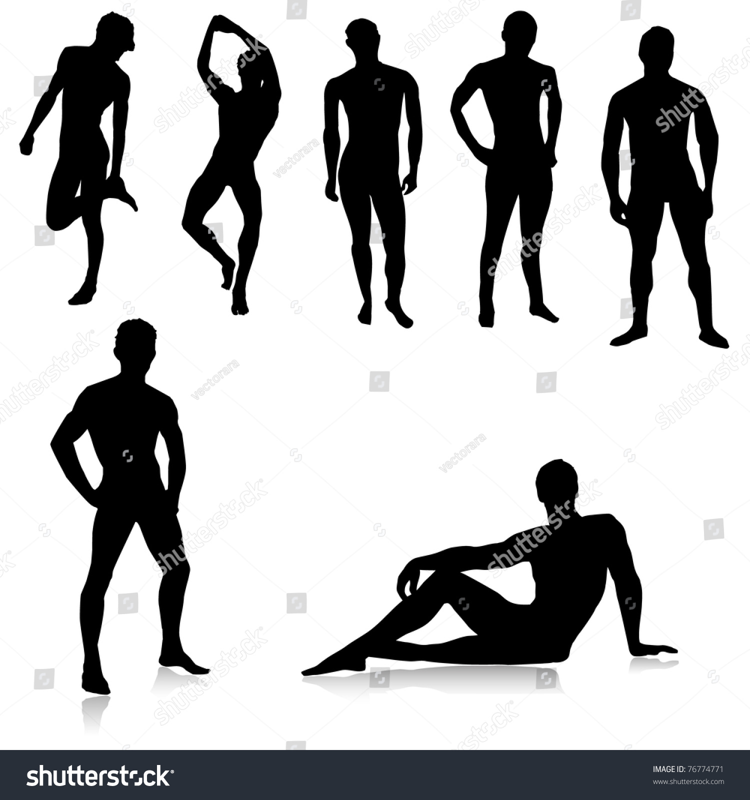 Silhouette Of A Male Stripper 111