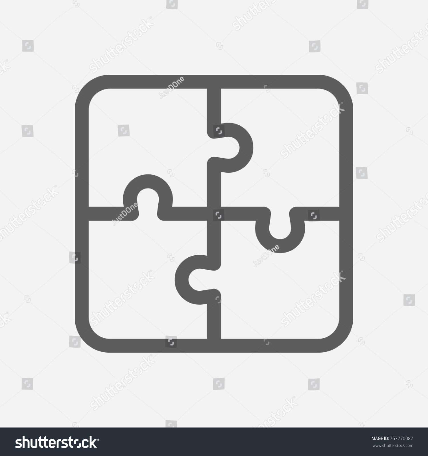 Core Values Integrity Icon Puzzle Line Stock Vector 767770087