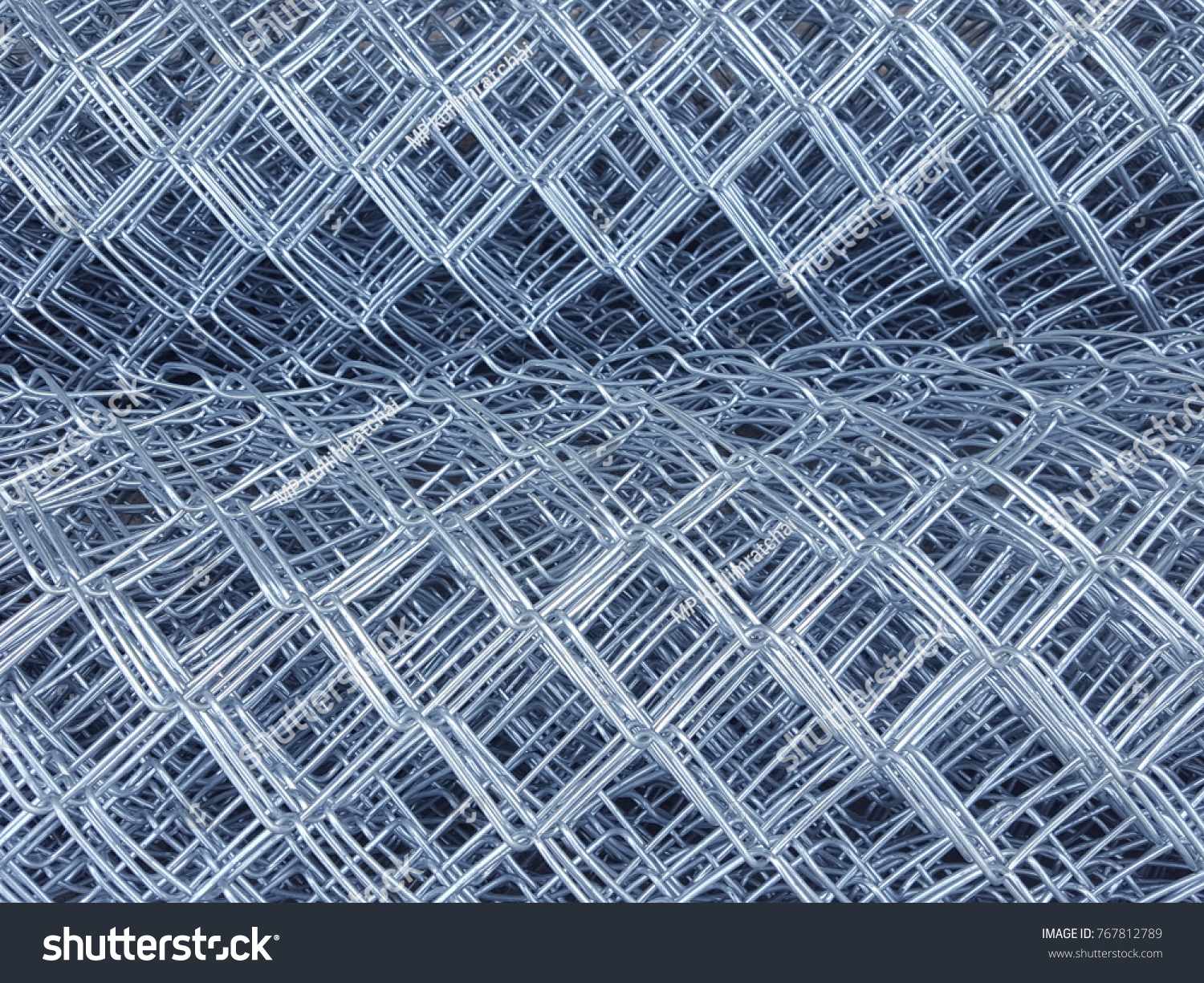 Rolls Wire Mesh Steel Construction Put Stock Photo (Download Now ...