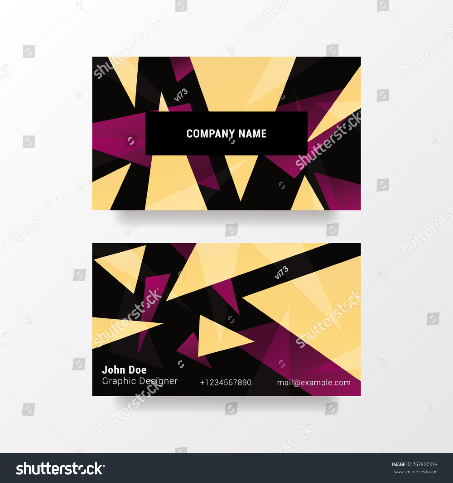 Modern Business Card Template X Abstract Stock Vector - 35 x2 business card template