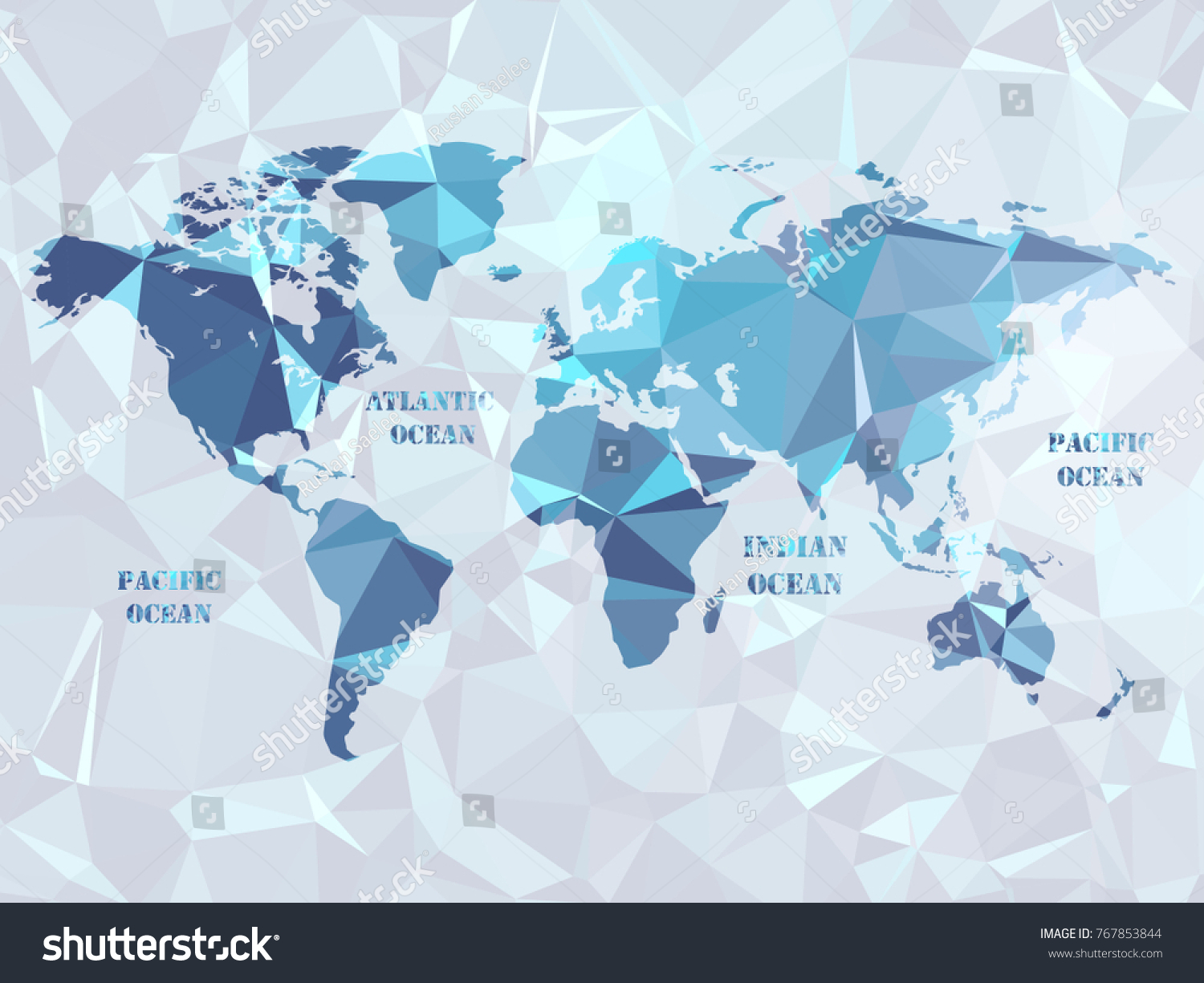 Polygon World Map Geometric Color Color Stock Vector - Make points on a map