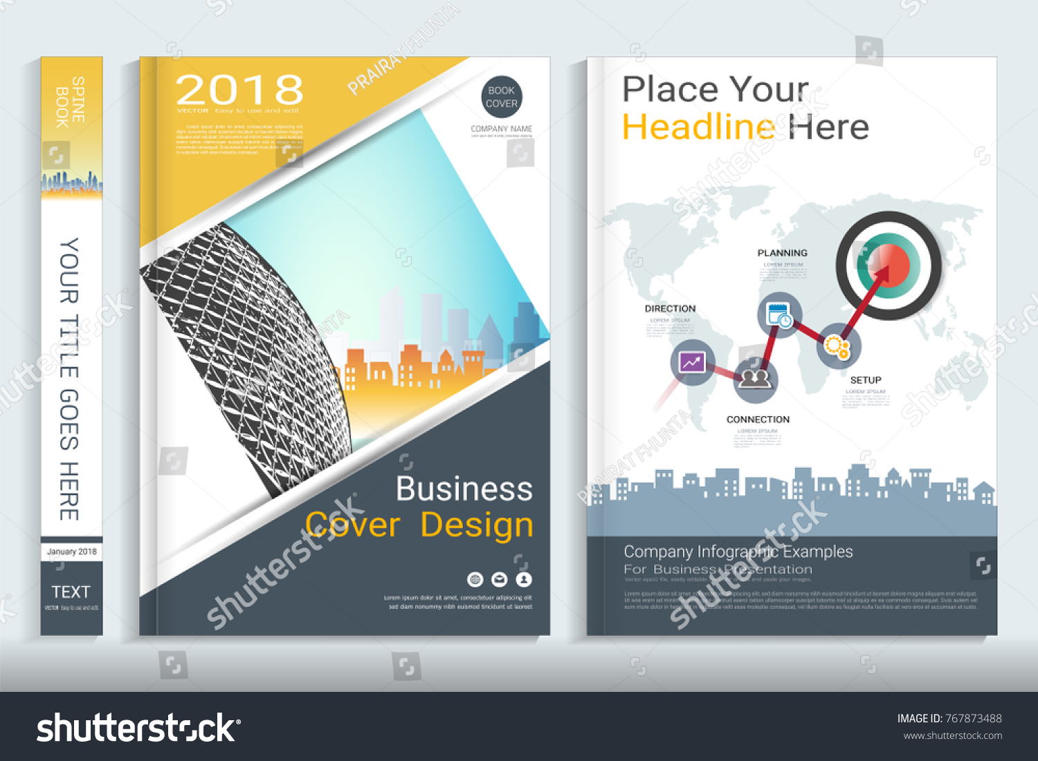 Book Cover Background Examples ~ Corporate business cover design space photo stock vector royalty